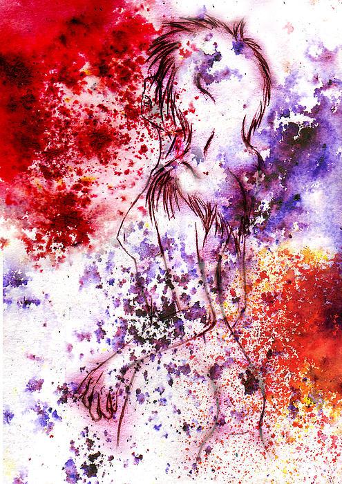 Sweet Death Kiss Print by Rokon Chan