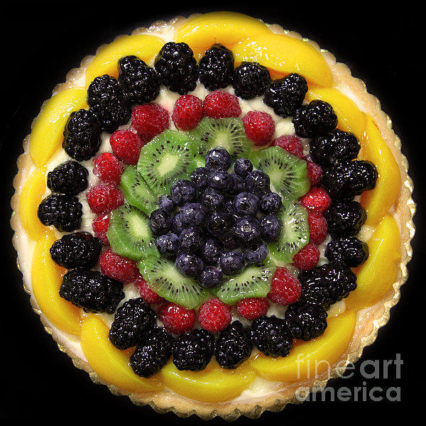 Sweet Treats - Fruit Cake - 5d20920 - Square Print by Wingsdomain Art and Photography