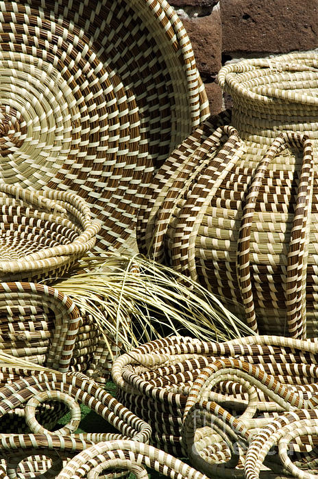 Sweetgrass Baskets - D002362 Print by Daniel Dempster
