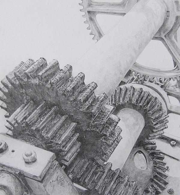 Swing Bridge Gears Print by Leonie Bell