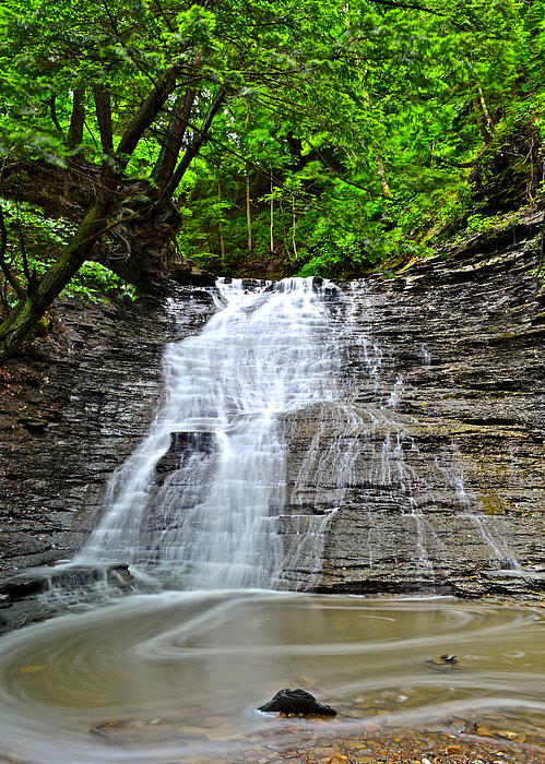 Swirling Falls Print by Frozen in Time Fine Art Photography