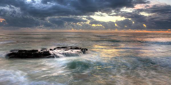 Swirling Seas Print by Peter Tellone
