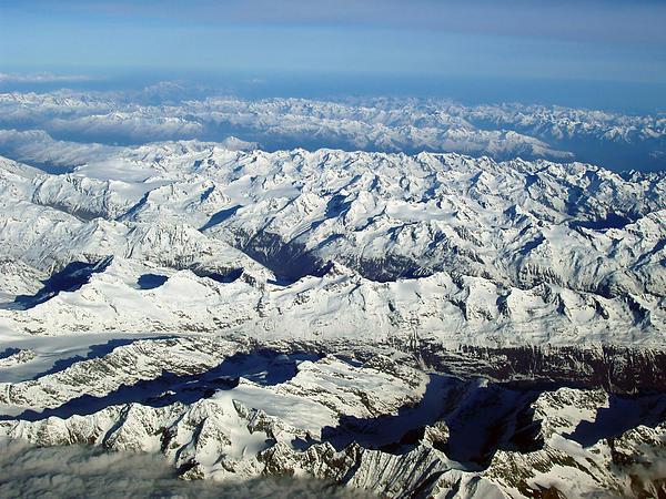 Swiss Alps Print by Ellen Henneke