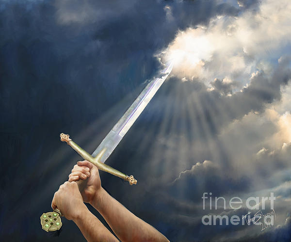Sword Of The Spirit Print by Tamer and Cindy Elsharouni