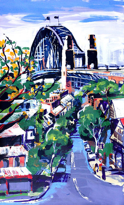 Sydney Daylight Print by Shirley  Peters