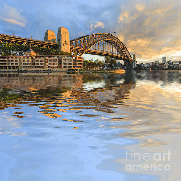 Sydney Harbour Bridge Australia Spectacular Early Morning Light Print by Colin and Linda McKie