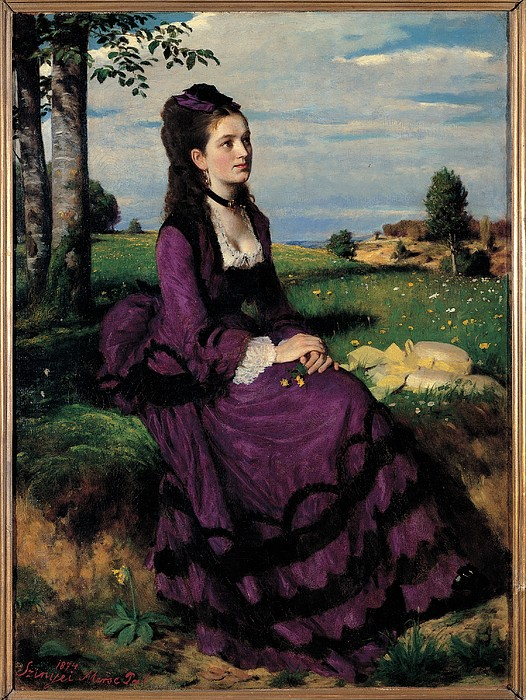 Szinyei Merse Pal, Portrait Of A Woman Print by Everett