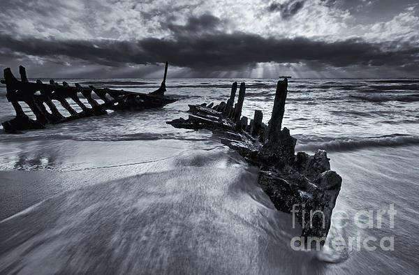 Taken By The Sea Print by Mike  Dawson