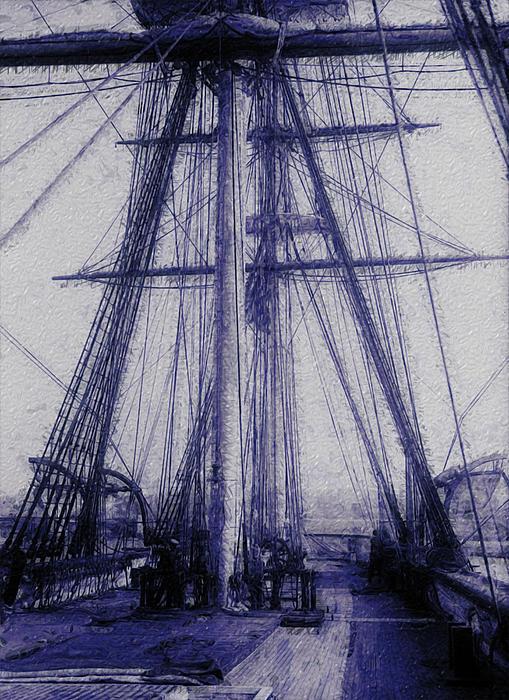 Tall Ship 2 Print by Jack Zulli
