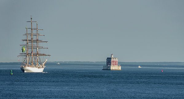 Marianne Campolongo - Tall Ship Cisne Branco passes Ledge Light