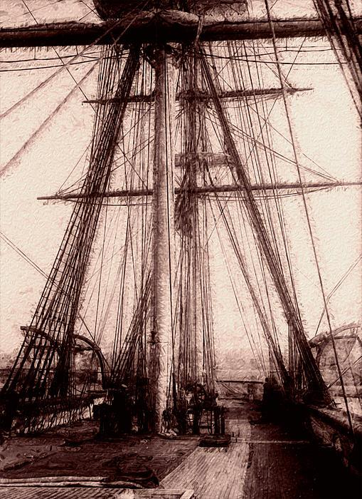 Tall Ship Print by Jack Zulli