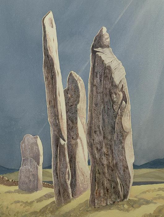 Tall Stones Of Callanish Isle Of Lewis Print by Evangeline Dickson
