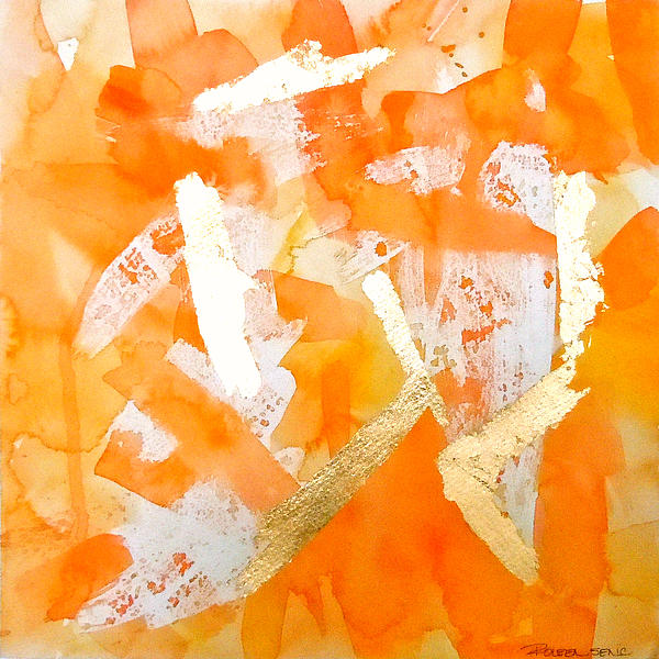 Tangerine Tango Print by Roleen  Senic