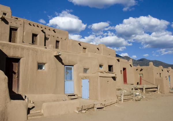 Taos Pueblo Print by Elvira Butler
