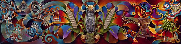 Tapestry Of Gods Print by Ricardo Chavez-Mendez