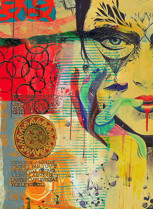 Tarot Card Abstract 007 Print by Corporate Art Task Force