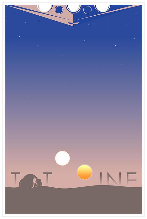Tatooine Print by Vincent Carrozza