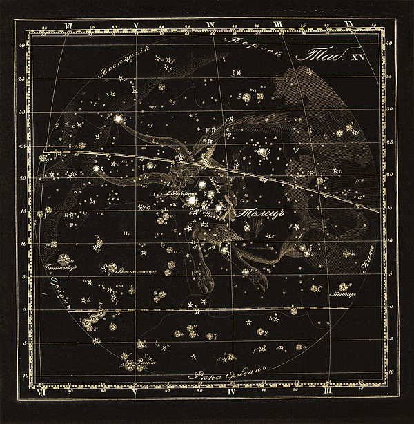 Taurus Constellation, 1829 Print by Science Photo Library