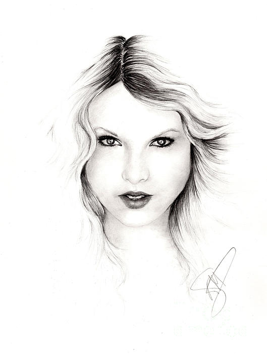 Taylor Swift 3 Print by Rosalinda Markle