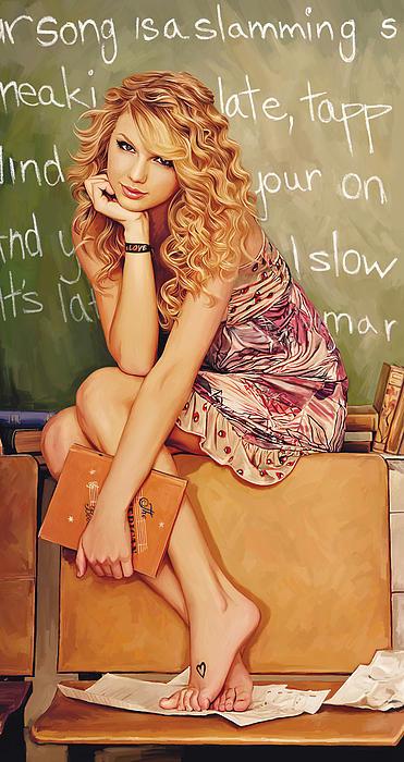 Taylor Swift Artwork Print by Sheraz A