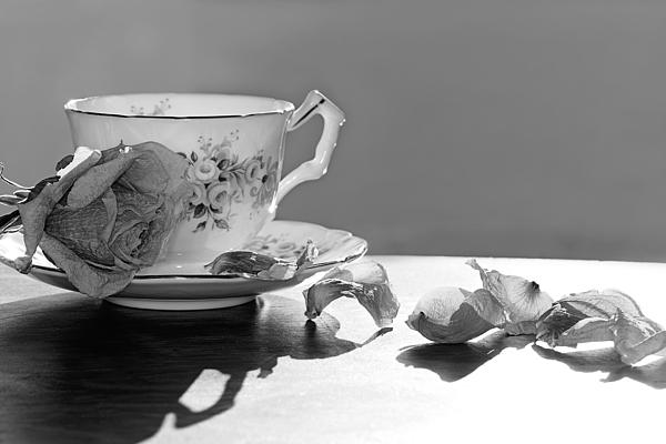 Tea And Roses Still Life Print by Lisa Knechtel