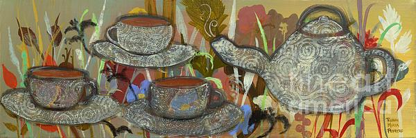 Tea For Three Print by Robin Maria  Pedrero