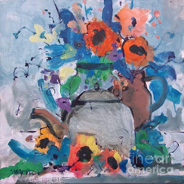 Micheal Jones - Tea Kettle and Sunflowers