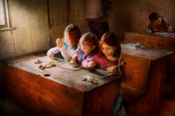 Teacher - Classroom - Education Can Be Fun  Print by Mike Savad