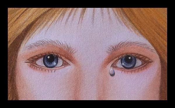 Tear By Saribelle Rodriguez Print by Saribelle Rodriguez