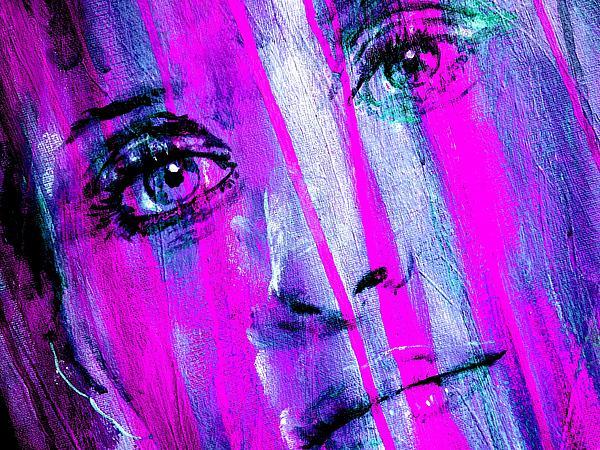 Tears - Purple Print by Richard Tito