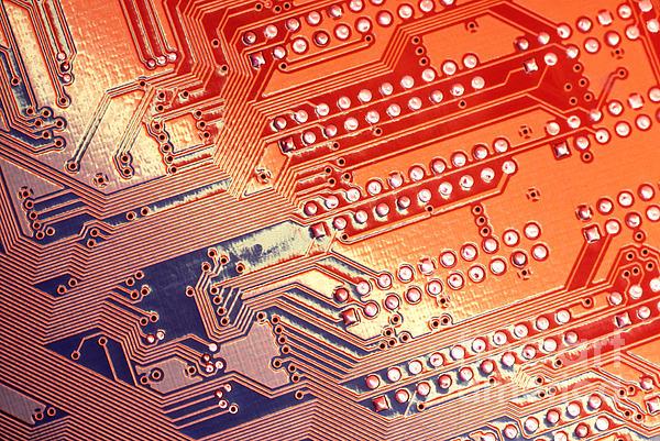 Tech Abstract Print by Tony Cordoza