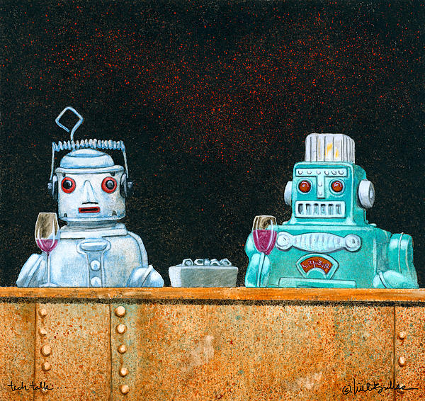 Tech Talk... Print by Will Bullas