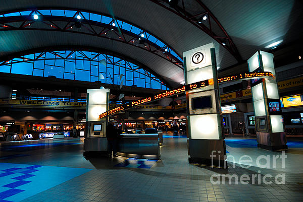 Technology Curves Pittsburgh International Airport Print by Amy Cicconi