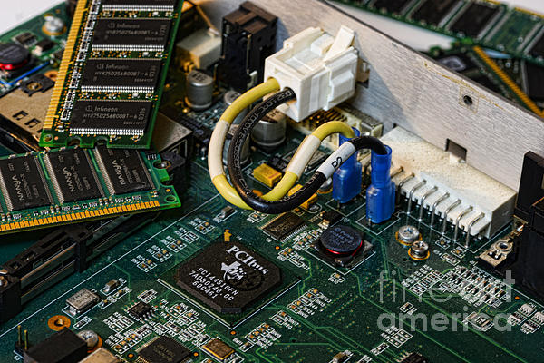 Technology - The Motherboard Print by Paul Ward