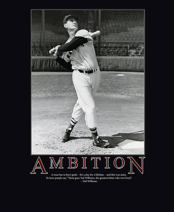 Ted Williams Ambition Print by Retro Images Archive