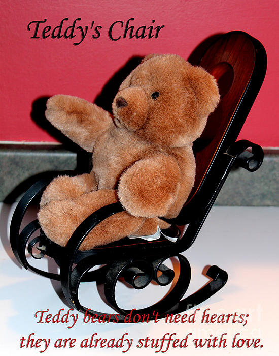 Teddy's Chair - Toy - Children Print by Barbara Griffin