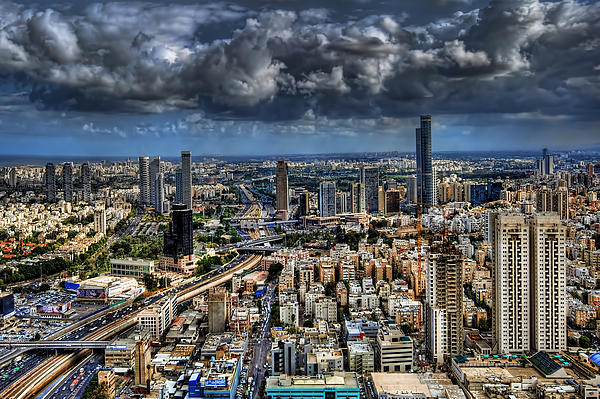 Tel Aviv Love Print by Ron Shoshani