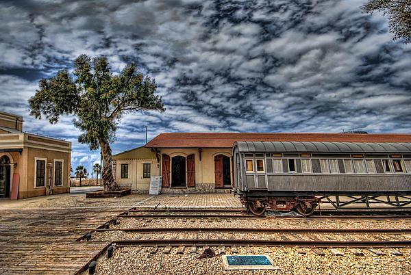 Tel Aviv Old Railway Station Print by Ron Shoshani