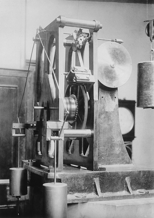 Telescope Clock, Sydney Observatory Print by Science Photo Library