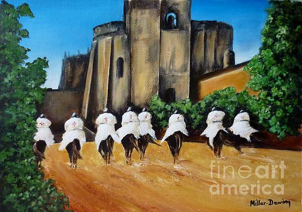 Templar Knights And The Convent Of Christ Print by Kaye Miller-Dewing