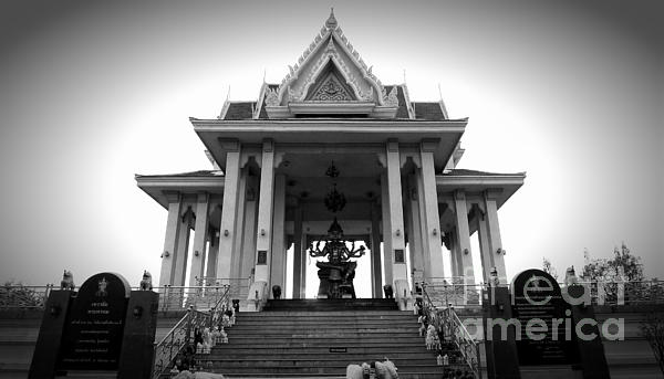Temple Steps Print by Thanh Tran
