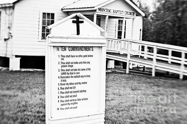 Ten Commandments Print by Scott Pellegrin