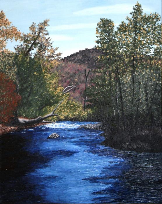 Tennessee A River Through The Woods Print by Beth Parrish