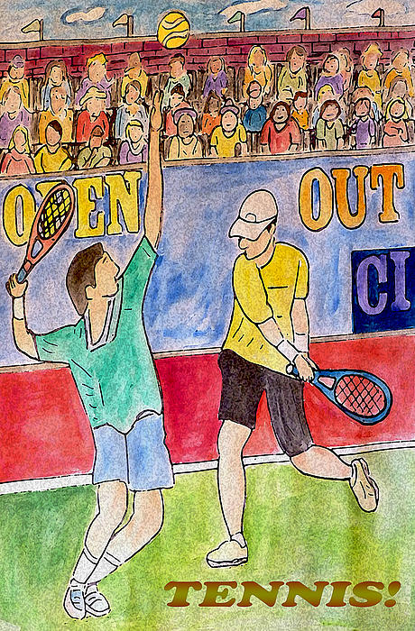 Tennis Strokes Print by Monica Engeler
