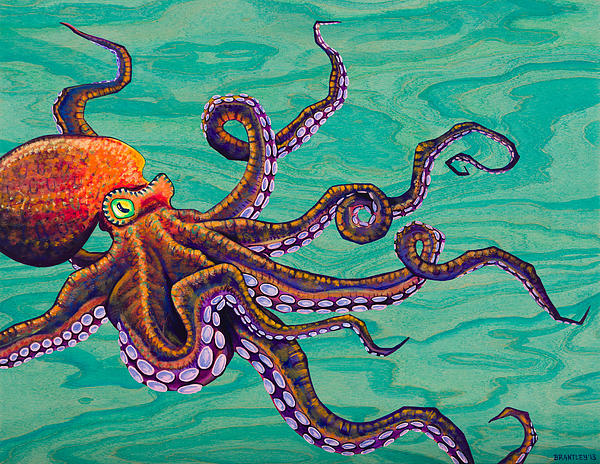 Tentacles Print by Emily Brantley