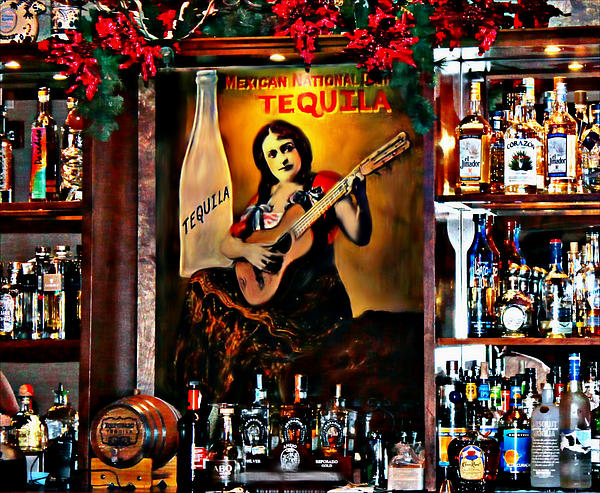 Tequila Bar Print by Barbara Chichester