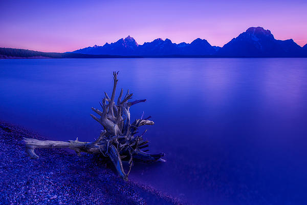 Teton Summer Sunset Print by Jerry Patterson