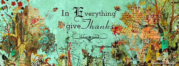 Thanksgiving Autumn Themed Inspirational Plaque Print by Janelle Nichol