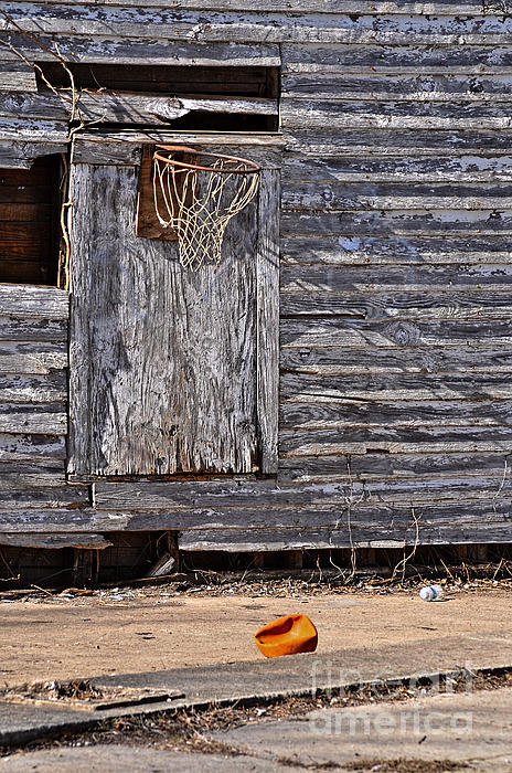 The Abandoned Basketball Print by David Lawrence