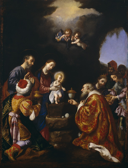 The Adoration Of The Magi Print by Carlo Dolci
